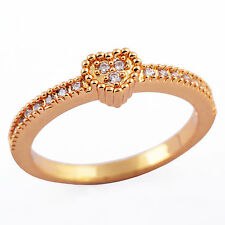 9K Gold Filled CZ Symbol of love heart-shaped wedding ring Size 6-8