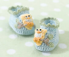 Pair of Blue or Pink Owl Booties (0-6 months) Baby Boy or Baby Girl Gift