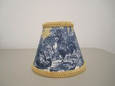 Waverly Blu Gold Petite Ferme Rooster French Country Toile Lamp Shade Chandelier