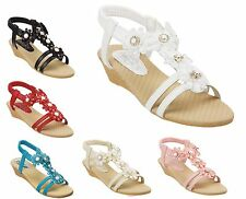 Ladies Jewelled Embellished Sling Back Sandals Size 3 to 8 UK - S018