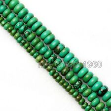 4x6mm 5x8mm 10X6mm Natural Turkey Turquoise Abacus Gemstone Loose Beads 15''