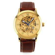 Mens Women Stainless Steel Automatic Mechanical Skeleton Sport Wrist Watch I1W8