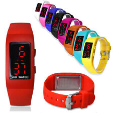 Fashion Mens Sports Watch Silicone Digital LED Watch Womens Bracelet Wrist Watch