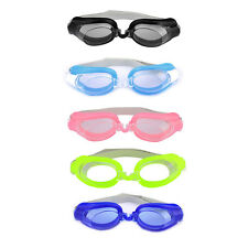 Adult Plastic Frame Silicone Swimming Goggles Spectacles w Earplugs Nose Clips