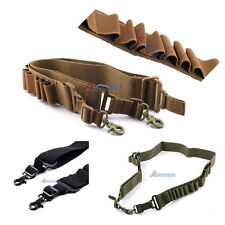 Tactical 2 Two Point Sling Adjustable Shotgun Ammo Strap Rifle for Hunting Black
