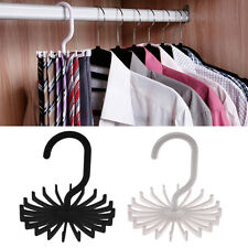 Utility Rotating Tie Rack Adjustable Tie Hanger Holds 20 Neck Ties Tie Organizer