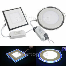 LED Recessed Ceiling Panel Light Warm Day White+Blu-ray Lamp+Driver 10W 15W 20W