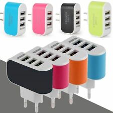 3 USB Port Wall Charger Charging Adapter For iPhone Samsung LG HTC Nexus 4 Color