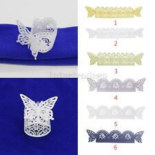50Pcs Butterfly Napkin Buckles w/ Rose Floral Pattern Wedding Party Gifts PICK