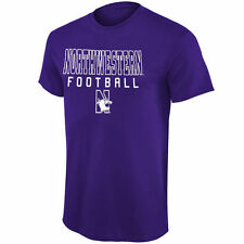 Northwestern Wildcats Purple Frame Football T-Shirt