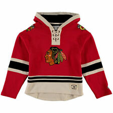 Old Time Hockey Chicago Blackhawks Red Current Lacer Heavyweight Hoodie