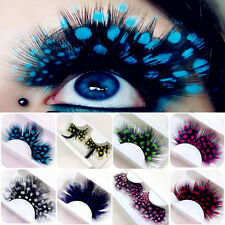 2Pcs Feather Polka Dot False Eyelashes for Party Dancing Fake Lashes Makeup