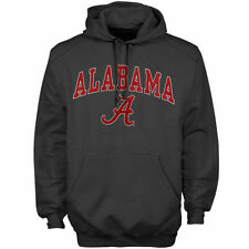 New Agenda Alabama Crimson Tide Charcoal Midsize Arch Over Logo Hoodie