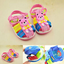 New Baby Kids Boys Breathable Summer SOFT Sandals Squeaky Shoes 0-2Y