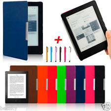 Magnetic Sleep Leather Flip Cover Case+Touch Pen+Film For KOBO AURA H2O eReader