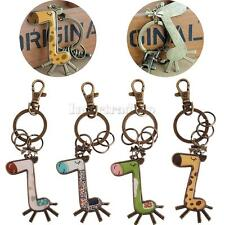 Cartoon Giraffe Pendant Loster Clasp Keyring Keychain Key Fob Charm Collectibles