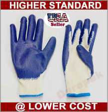 120 Pairs Cotton /Poly Work Gloves  Lg or X-lg w/ Blue Latex Coated Palm Finger