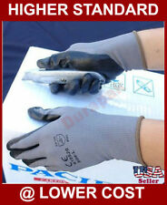 120 Pair Nylon Work Gloves w/ Black Foam Nitrile Palm Finger Coating S, M, L, XL