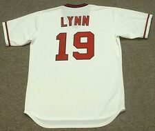 FRED LYNN California Angels 1982 Majestic Cooperstown Home Baseball Jersey