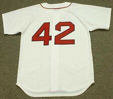 MO VAUGHN Boston Red Sox 1995 Majestic Throwback Home Baseball Jersey
