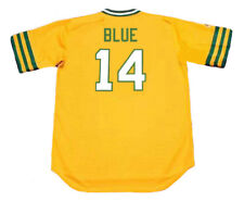 VIDA BLUE Oakland Athletics 1973 Majestic Cooperstown Home Baseball Jersey