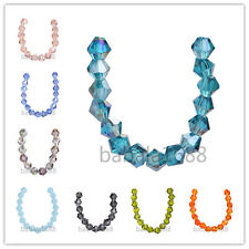 500pcs 4mm  Charms Faceted Crystal Glass 5301# Bicone Loose Spacer Beads