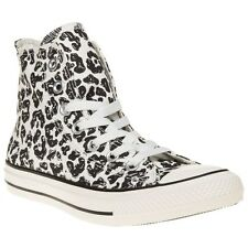 New Boys Converse Natural All Star Hi Canvas Trainers Animal Lace Up