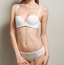 Women Underwire embroidery Wedding Bridal / Formal Bra sets / panties / Demi Cup