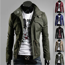 New Mens Fashion Jacket Coat Slim Clothes Winter Warm Overcoat Casual Outerwear