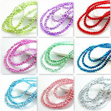 New color 200pcs Crystal Glass Loose Spacer round Beads DIY 4mm