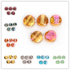 18mm Charms Faceted Glass Crystal Twist Tile Beads Loose Spacer Bead 27 Colors