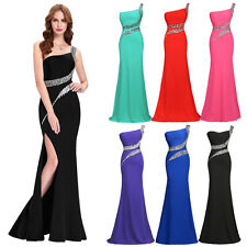 One Shoulder Backless Long Prom Dress Formal Party Evening Gown Bridesmaid Dress