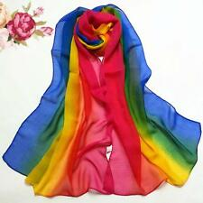 Fashion Women's Scarf Gradient Color Long Wrap Shawl Chiffon Scarf Scarves Cape