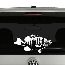 Crappie Fish Fishing Vinyl Decal Sticker Car Window