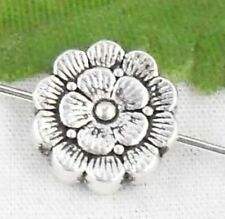 Wholesale 14/32Pcs Tibetan Silver Flower Spacer Beads 12x4mm(Lead-free)