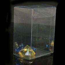 Clear Plastic PVC Boxes Party Favor Wedding Tuck Top Display Box 7x6x3cm