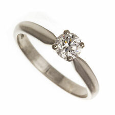 18ct White Gold 0.5ct Solitaire Diamond Engagement Ring