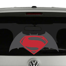 Batman vs Superman Dawn of Justice Inspired Logo Vinyl Decal 2 Color