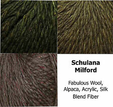 Schulana Milford Bulky Wool Alpaca Silk Blend Yarn Color Choice Knit Crochet FS