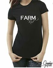 FARM T Shirt Funny Womens kid Girl Ladies Redneck Hillbilly Rock Chick Country x