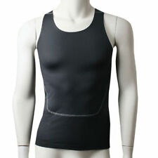 Men Athletic Body Compression Tank Baselayer Gym Vest Under Skin Tight Shirt Top