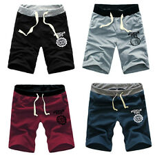 Fashion Mens Cotton Shorts Pants Gym Trousers Sport Jogging Trousers Casual HOT