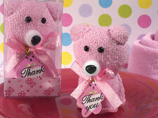 70 Pink or Blue Teddy Bear towel favor  baby Shower Favor Party Favors