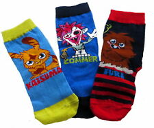 12 Pairs Moshi Monster's Boy's Socks Various Sizes Available