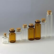 New Diameter of 22mm Tiny Wishing Glass Bottles Vial with Cork Clear Empty