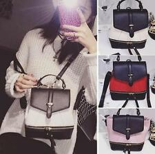 Women's PU Leather Small Backpack Rucksack Shoulder bag Purse Satchel Knapsack