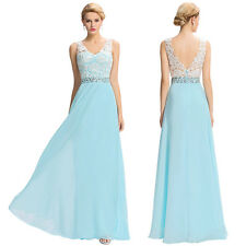 Grace Karin Long Chiffon Ball Gown Evening Bridesmaid Cocktail Prom Party Dress