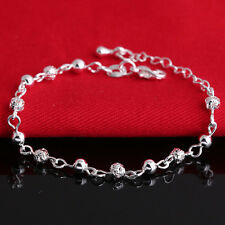 Charm Women nice Bangle Silver Plated Crystal Chain Cuff Bracelet Jewelry CHI
