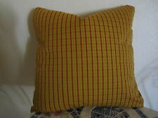 Gorgeous Pierre Deux Pillow Gold Red Pont Aven Plaid Check French Country Toile