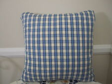 Gorgeous Pierre Deux Pillow Blue Cream Check French Country Toile